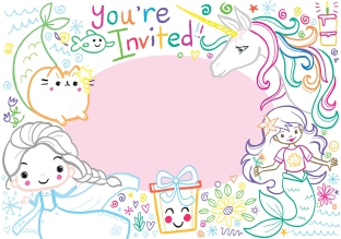 a cute 5 year old invite