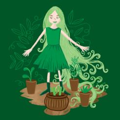 Green lady gardener