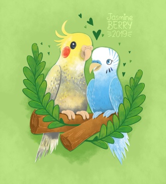 Fiona's_Love_Birds_Sketch