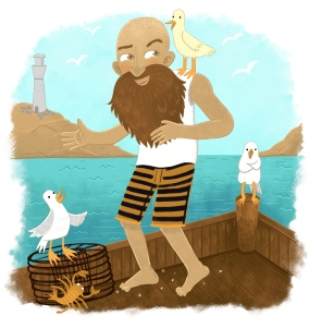 pirate guy seagull