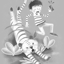 SCBWI MARCH 8 the phone tiger